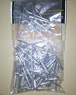 Заклёпки вытяжные материал алюминий в упаковке по 50 штук. FIT