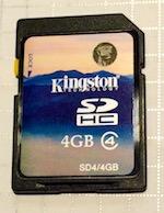 Карта памяти Kingston micro sdhc 4Gb класс 4