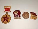 Коллекция старых китайских значков.